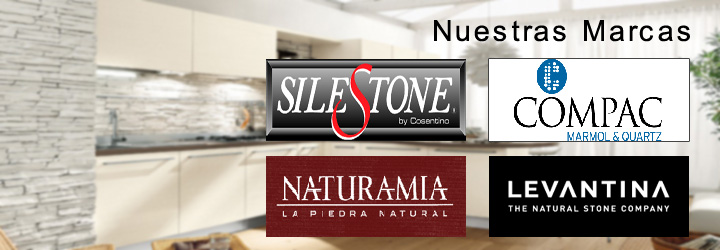 Kuher encimeras de cocina en zaragoza silestone compac for Marcas de cocinas