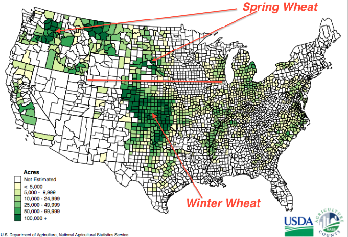 Mike Smith Enterprises Blog The Importance Of The  Winter - Us wheat production map
