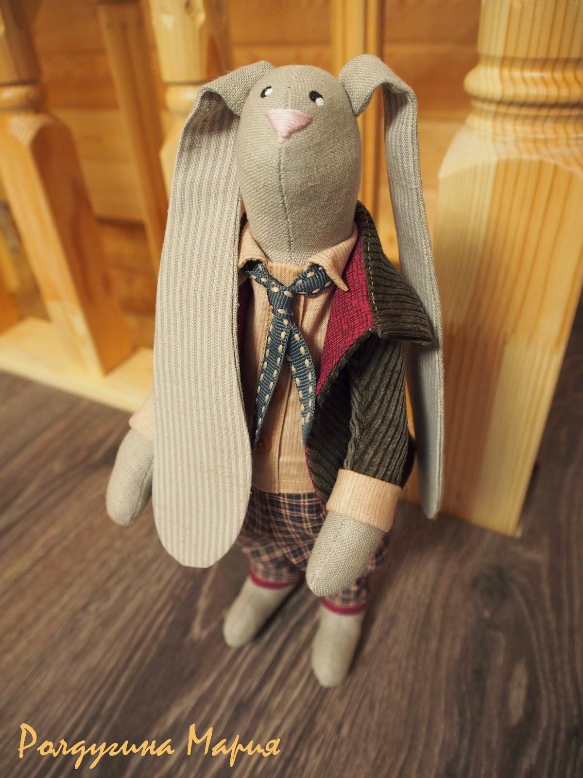 игрушка заяц ручная работа
