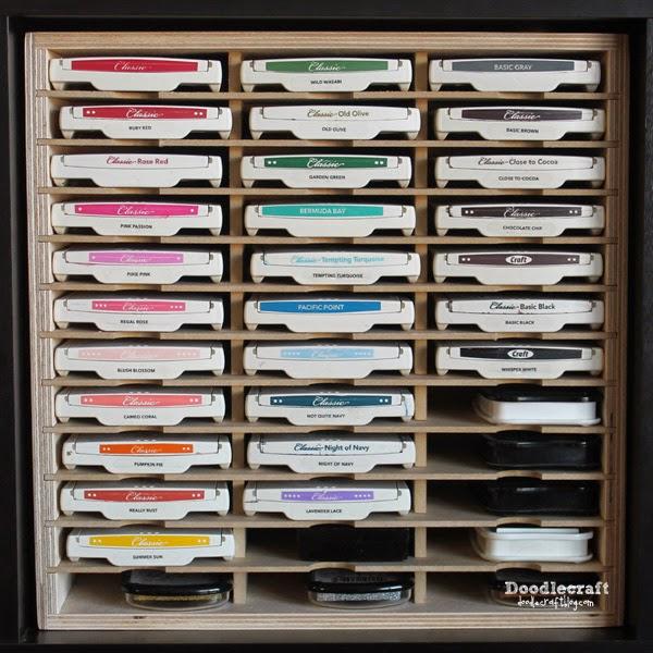 Doodlecraft stamp n storage perfect craftroom organization for Craft punch storage ideas