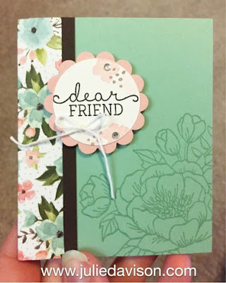 Stampin' Up! Birthday Blooms mini memo notebook 2016 Occasions Catalog Sneak Peek #stampinup www.juliedavison.com