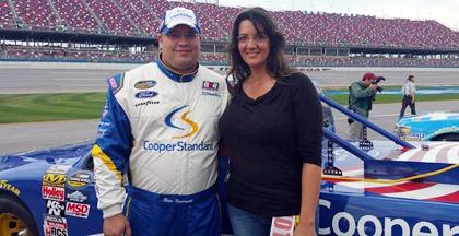 #NASCAR Driver Brian Keselowski and his girlfriend Jen