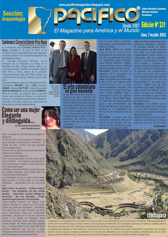 Revista Pacífico Nº 231 Arqueología