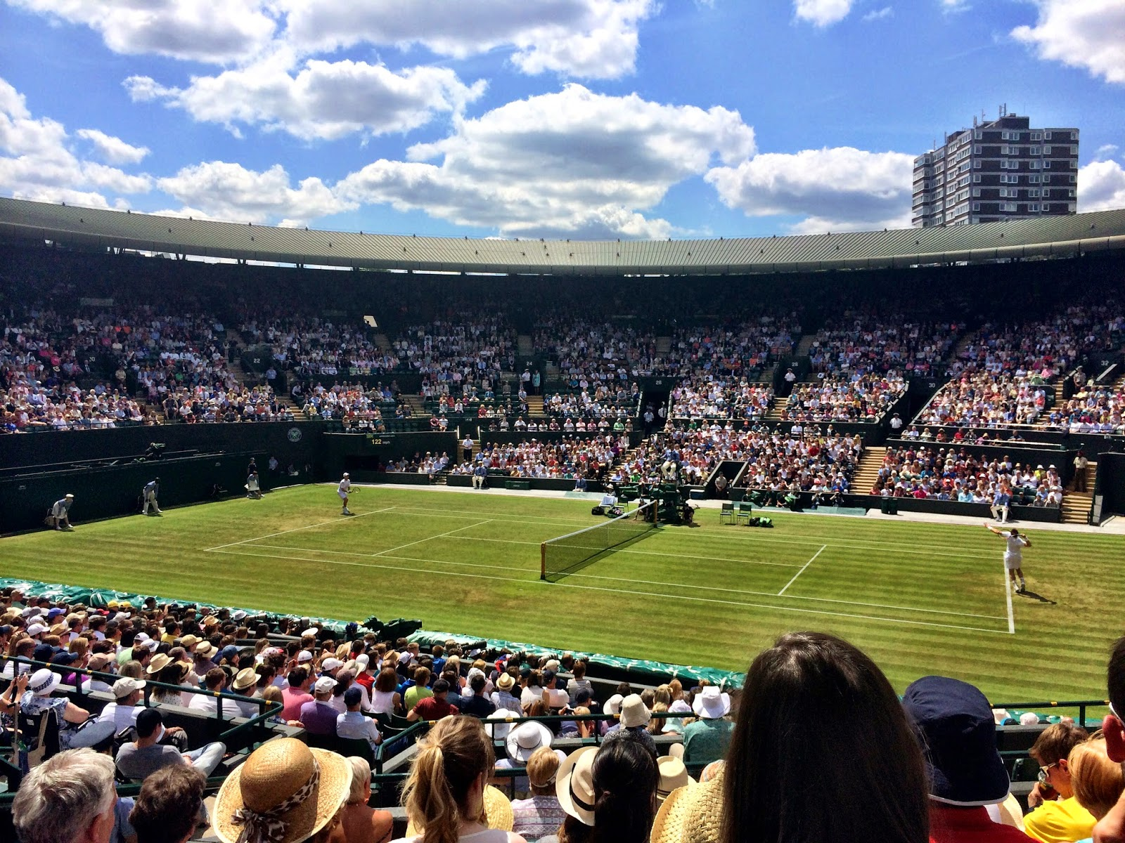Andy Murray playing Blaz Rola on Court 1 - Wimbledon 2014