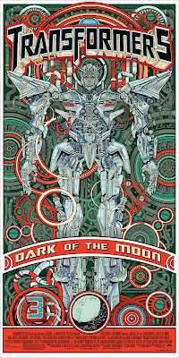 Transformers Dark of the Moon Standard Green Offset Poster by Jesse Philips