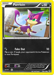 Purrloin Phantom Forces Pokemon Card