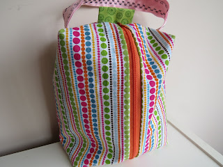 Box Bag, NekozukiYarns, sewing, lined bag, zipper