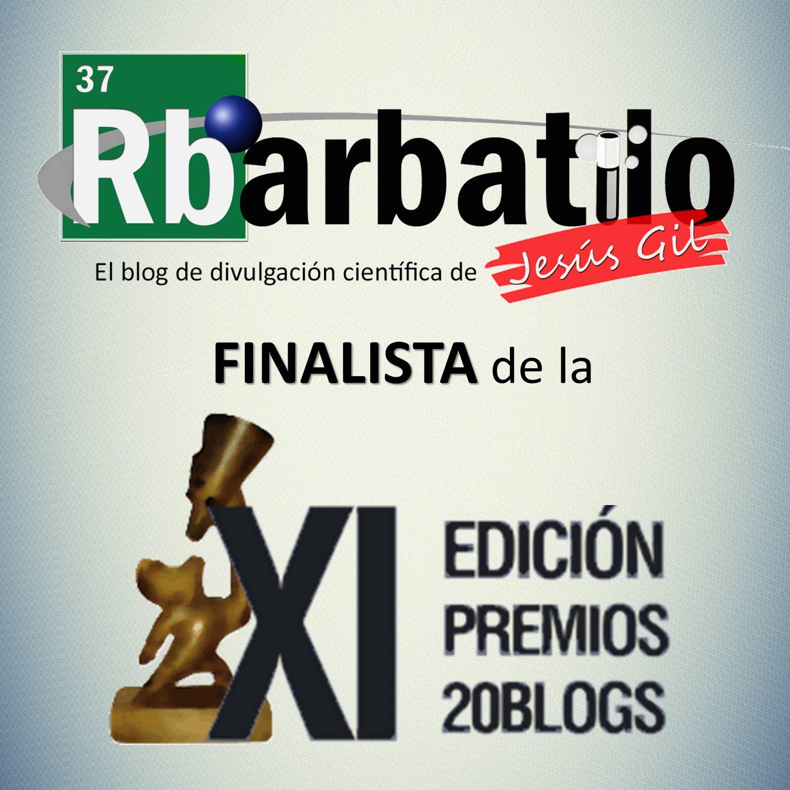 FINALISTA en los XI Premios 20Blogs