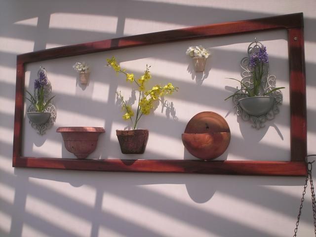 Artesanato Em Argila ~ Berna Artesanato Painel de madeira para o jardim