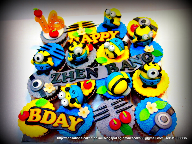 THE MINIONS CUPCAKES SINGAPORE / MINION HANDCRAFTED FIGURINES
