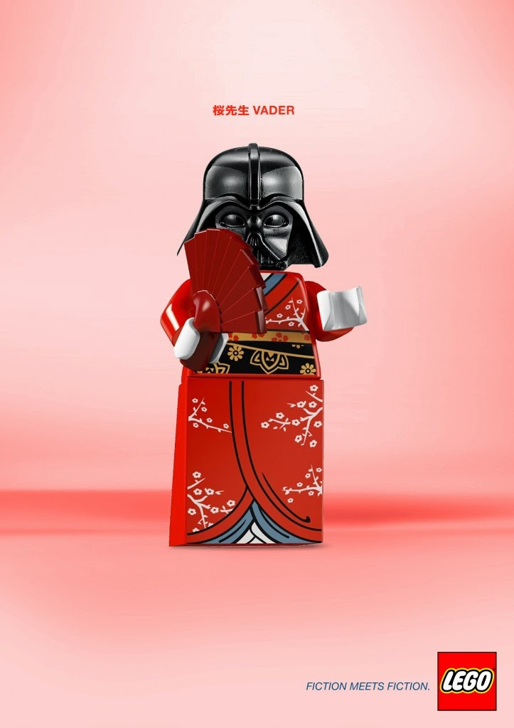 LEGO, Fiction meets fiction, Geisha y Darth Vader
