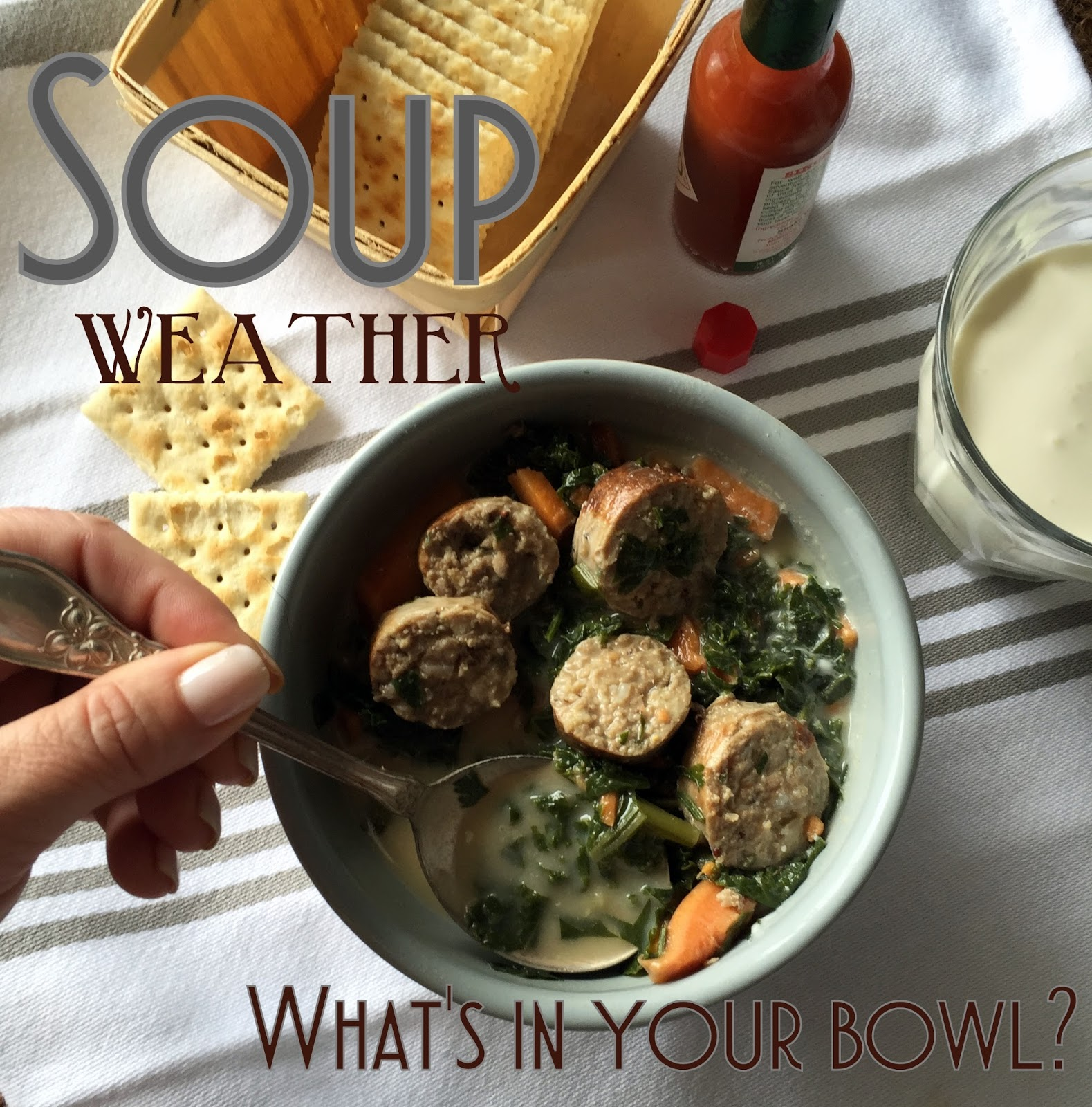 Notes from Maggie\'s Farm: Soup Weather | RABBIT SAUSAGE SOUP WITH ...