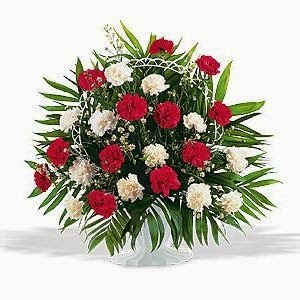 Send A Carnation Funeral Basket