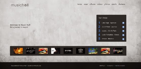 Music Hall Responsive Joomla Template