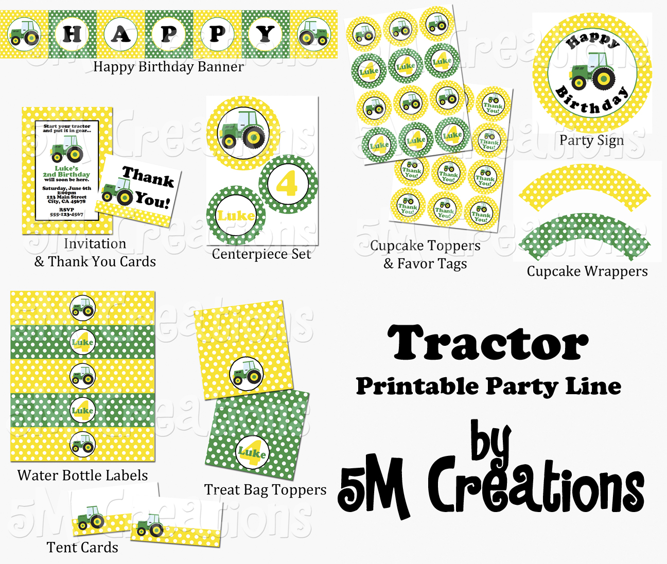 John Deere FREE Printable Birthday Party Invitations - oukas.info