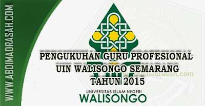 Pengukuhan Guru Profesional LPTK UIN Walisongo Semarang Tahun 2015