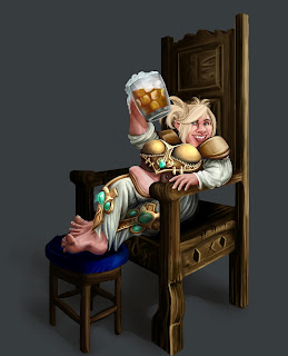 Dwarf in a chair