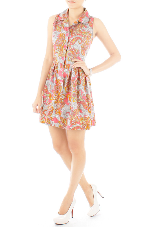 Adorable Paisley Sundress - Pink