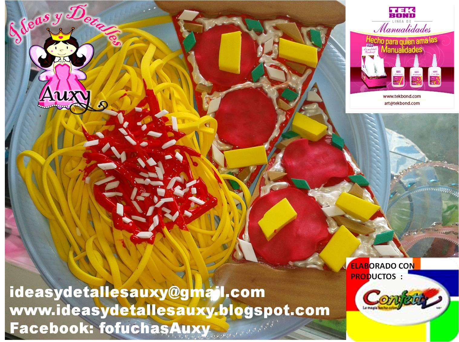 Ideas y detalles Auxy: COMIDA DE FOMI PIZZA Y ESPAGUETTI