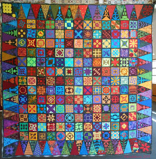 Dear Jane Quilt (Batik) Diane Rhode and Judy Doenias, USA