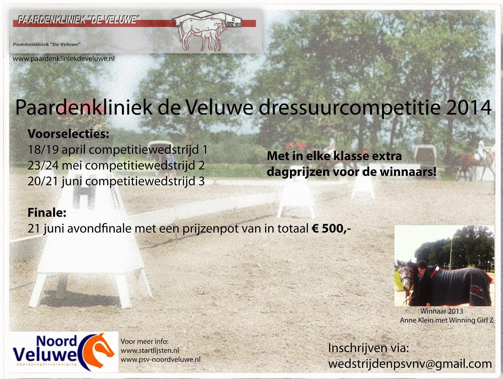 Dressuurcompetitie 2014 PSV Noord Veluwe