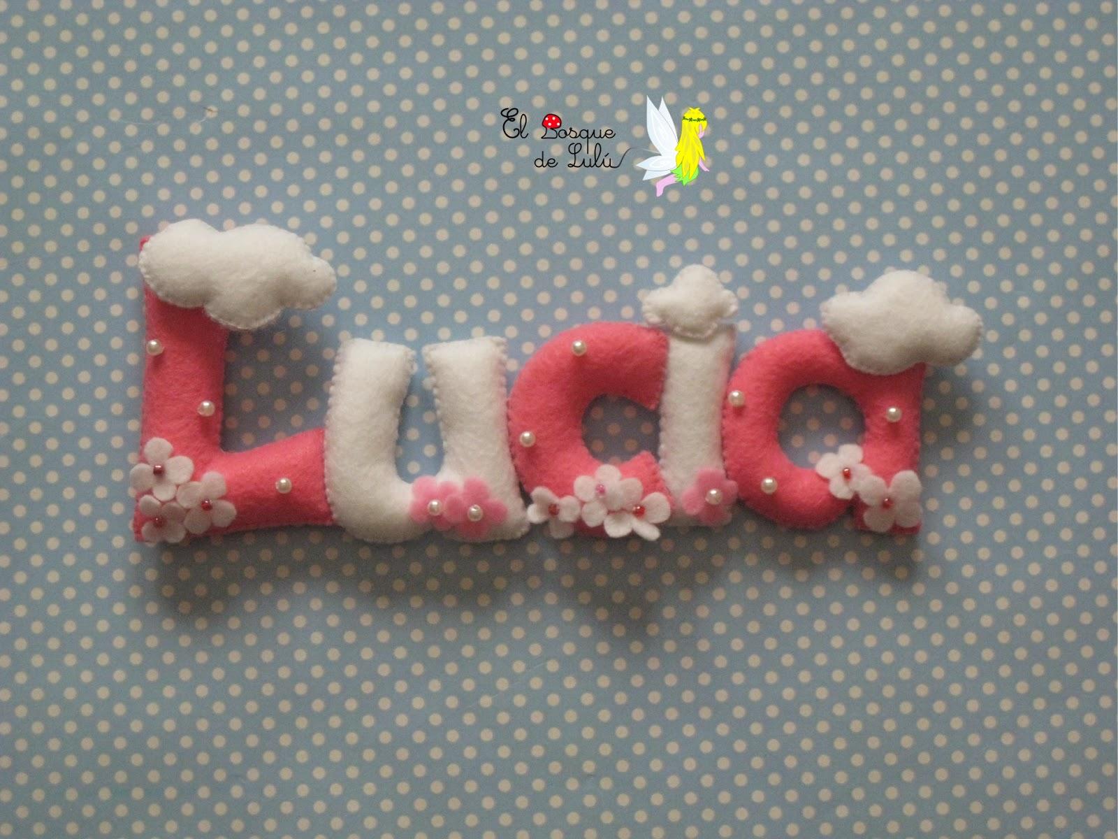 nombre-fieltro-Lucía-decoración-infantil-regalo-comunión-nacimiento