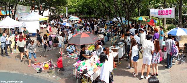 Panorámica del Free Market de Hongdae