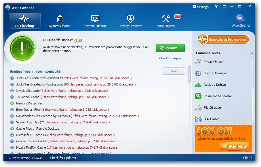 Wise Care Pro 365 v2.0.5.151