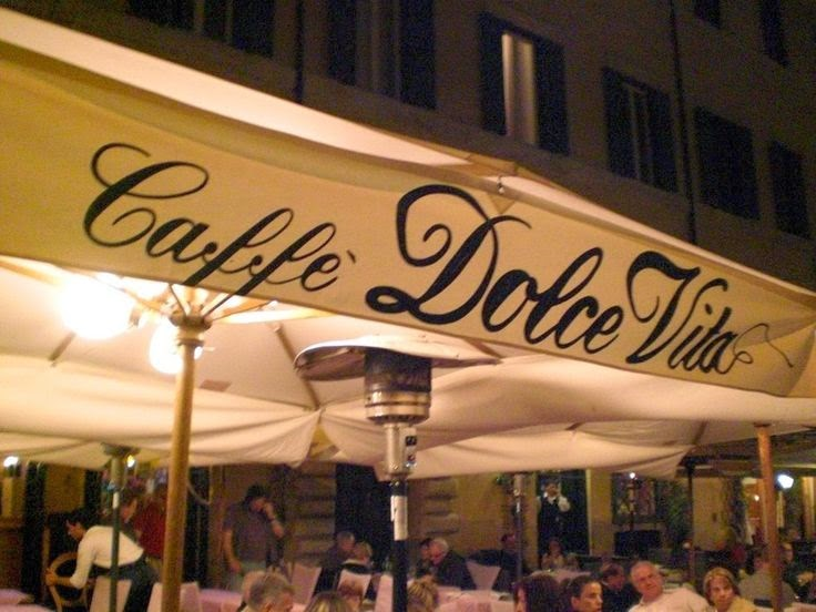 n.008 VITA Caffè Dolce Vita a Roma, foto da Guanche, as seen in ITALIAN: The most-used nouns series on Via Optimae, www.viaoptimae.com