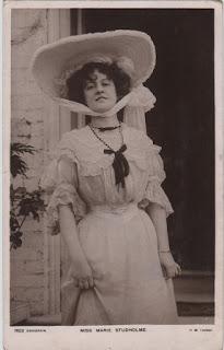 Vintage postcard of Miss Marie Studholme