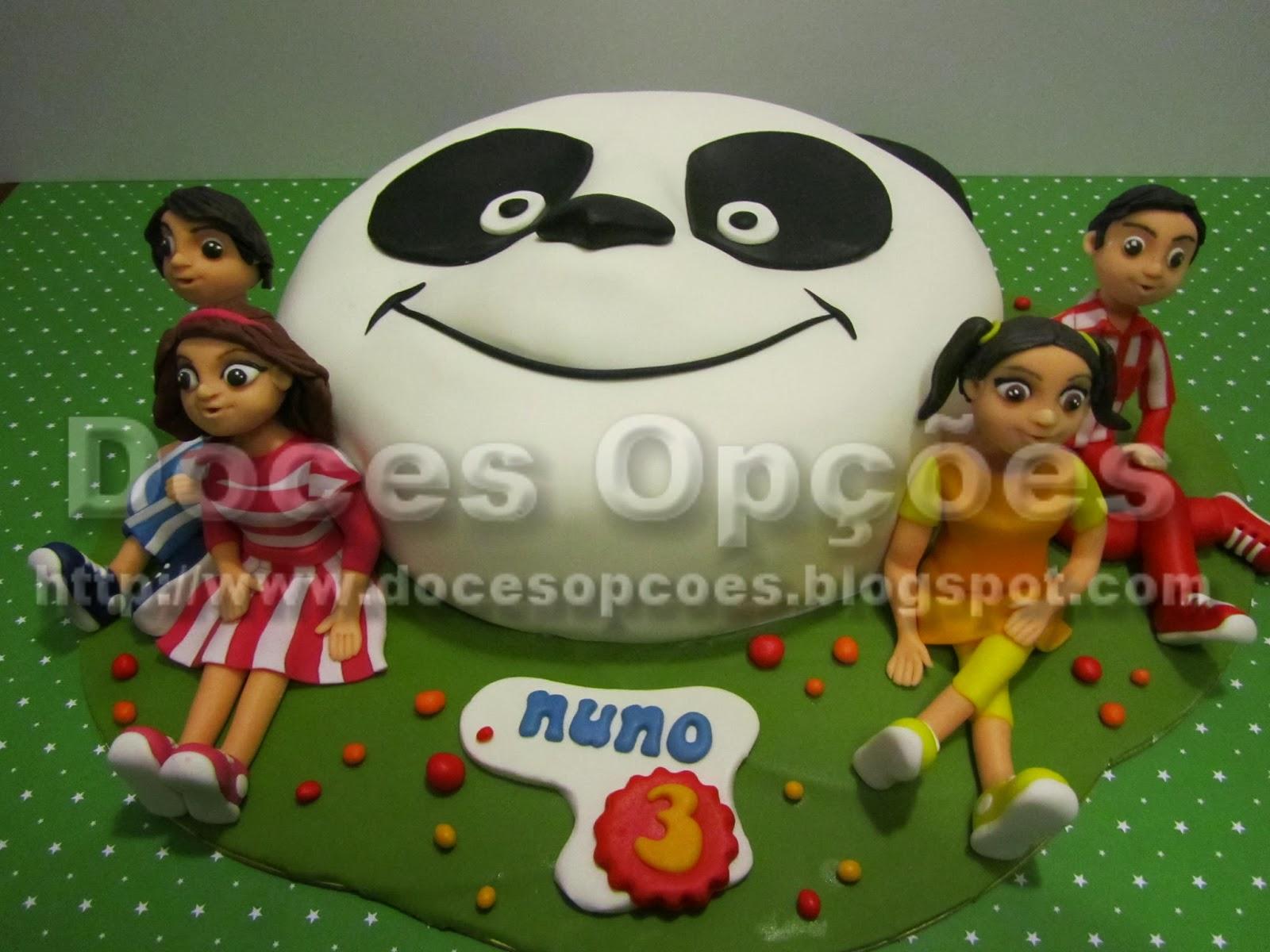 bolos decorados panda caricas