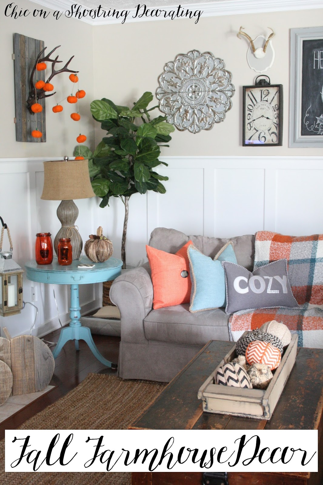 Chic on a Shoestring Decorating Fall Farmhouse Decor to Last All Season