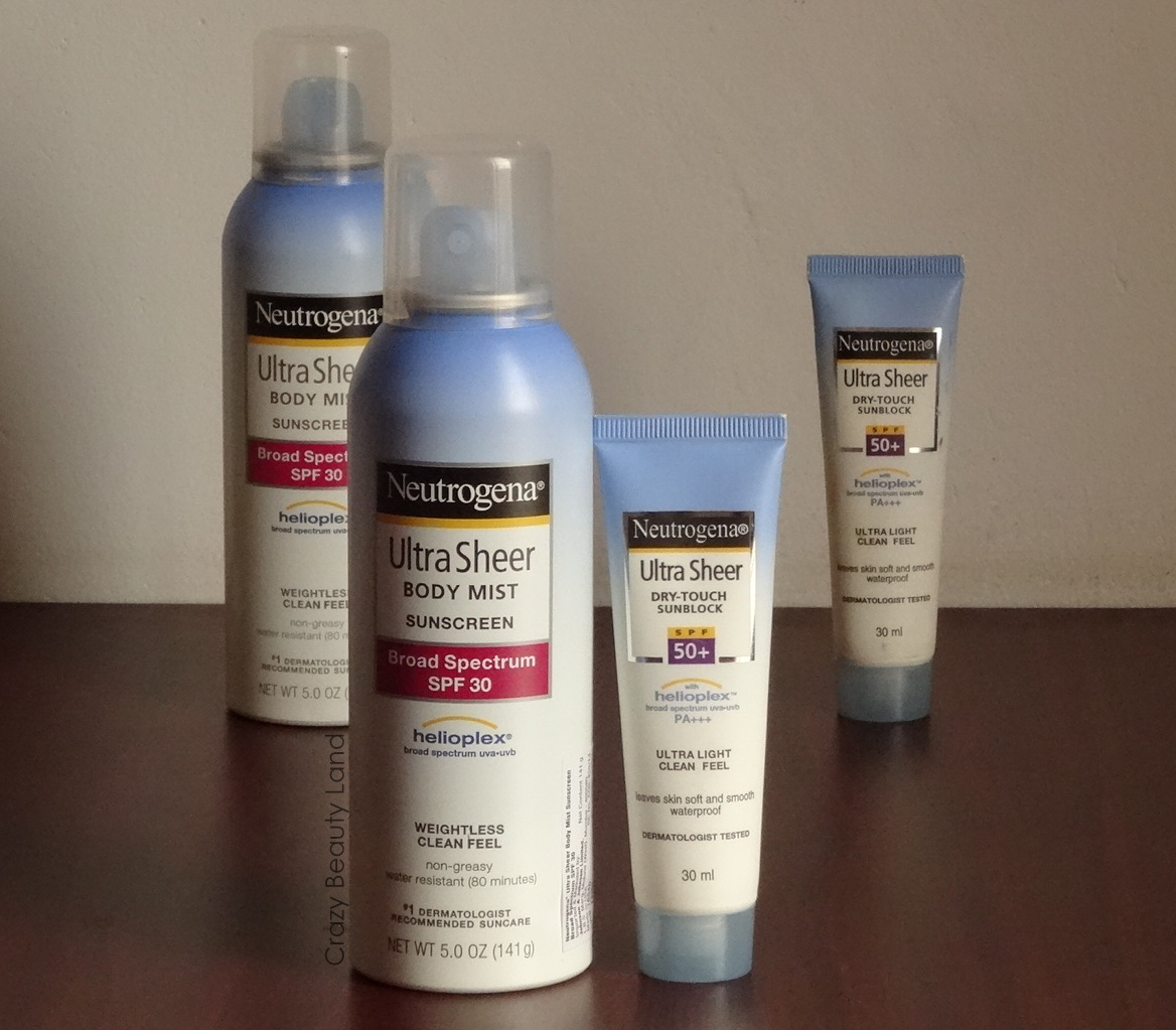 Neutrogena Ultra Sheer Dry Touch Sunblock SPF 50+ VS Neutrogena Ultra Sheer Body Mist Sunscreen SPF 30 review price india