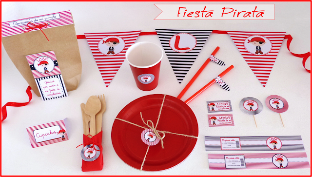 Kit de fiesta pirata