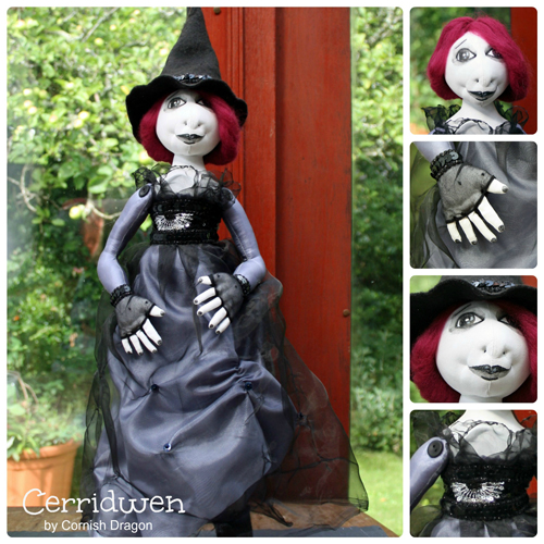 cerridwen cloth art doll