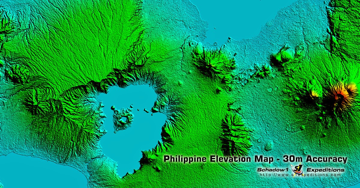 Macolod Corridor Topography SRTM 1-arcsecond processed - Schadow1 Expeditions