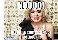 olvidar contraseña de facebook
