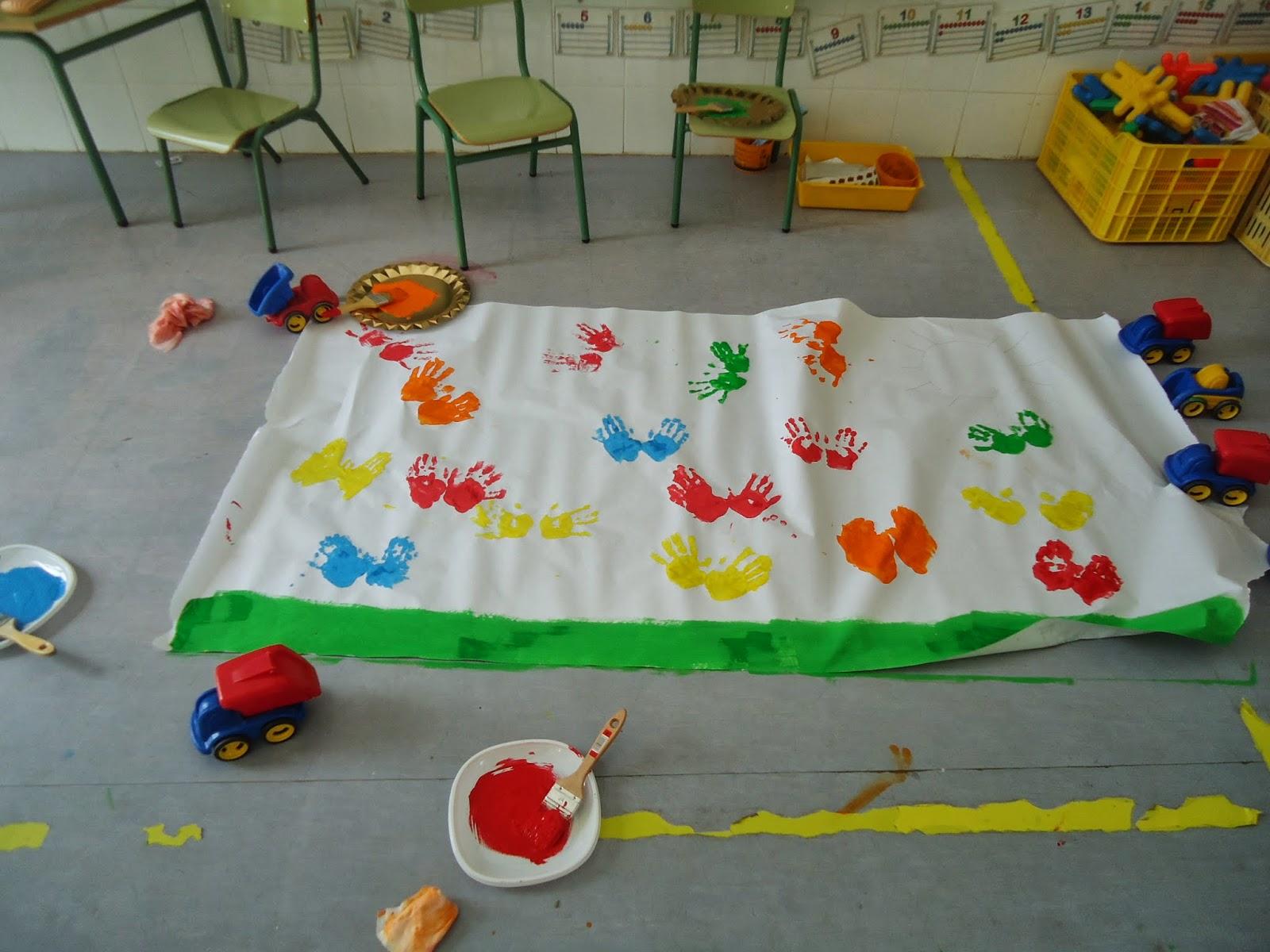 Aulas de infantil del ceip avileses bienvenida primavera for Decoracion primavera manualidades