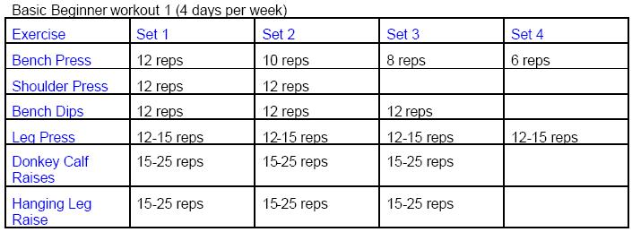 Free Weekly Workout Schedule For Men To Gain Muscle