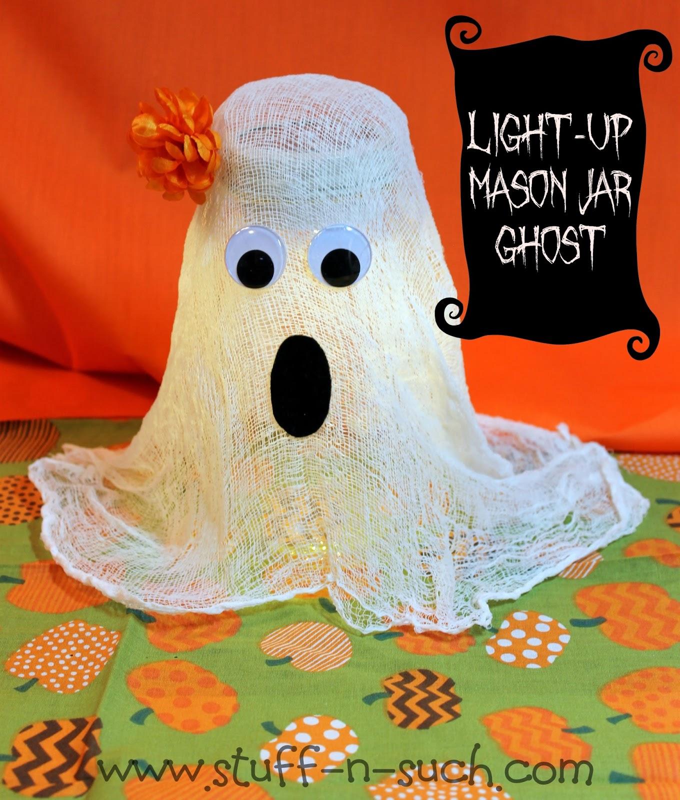 stuff-n-suchlisa: halloween mason jar light-up ghost