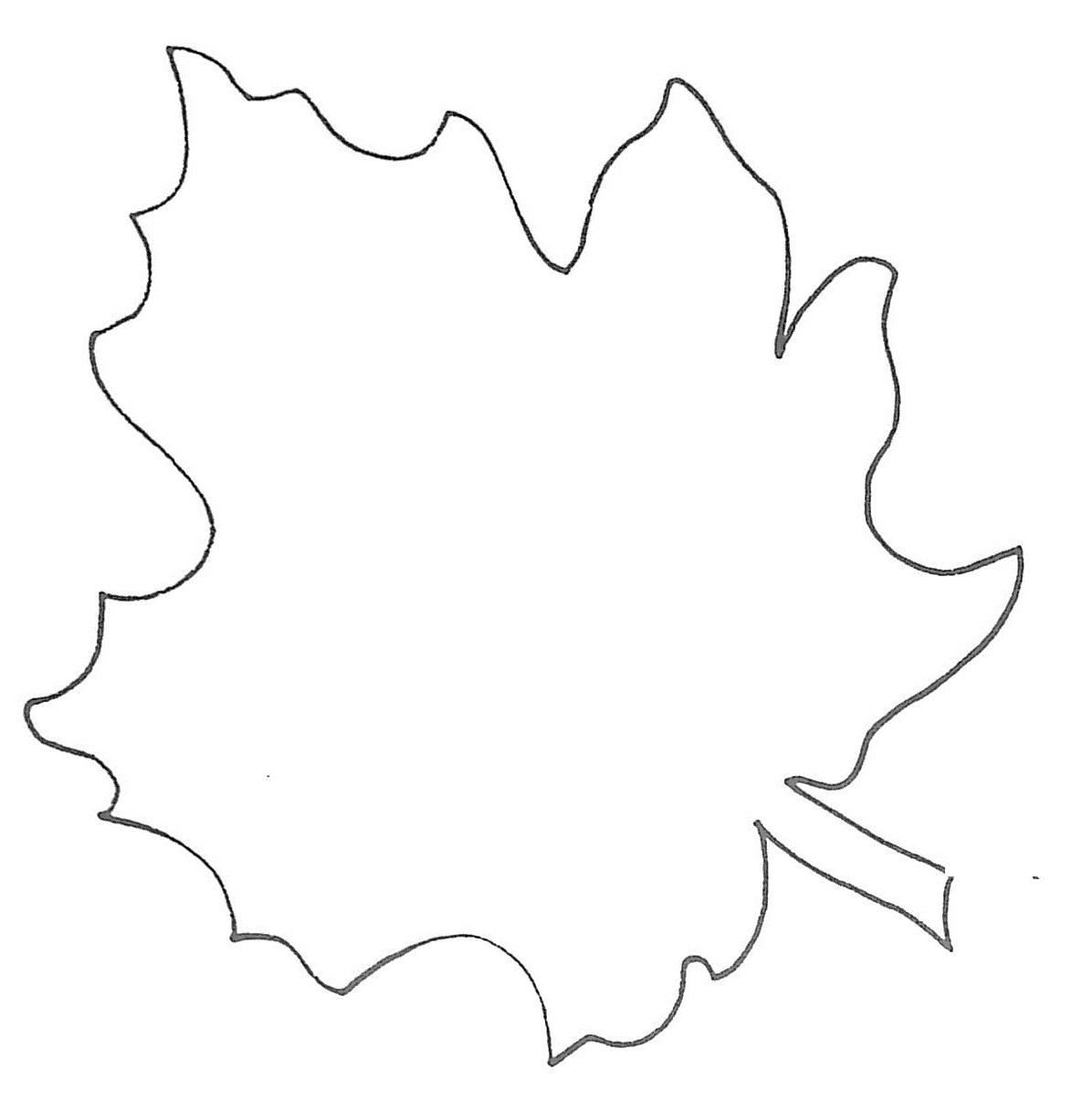 maple leaf outline template – Leaf Template