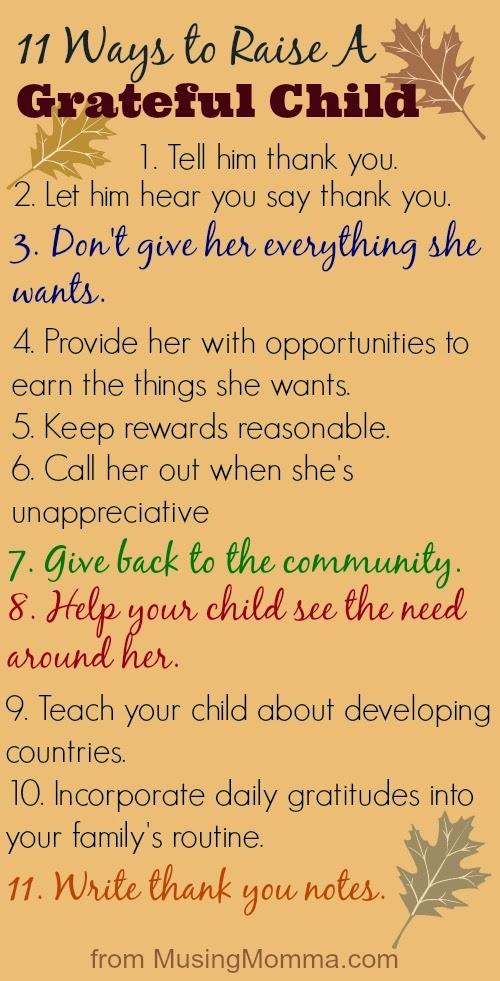 11 Ways To Raise A Grateful Child - Musing Momma