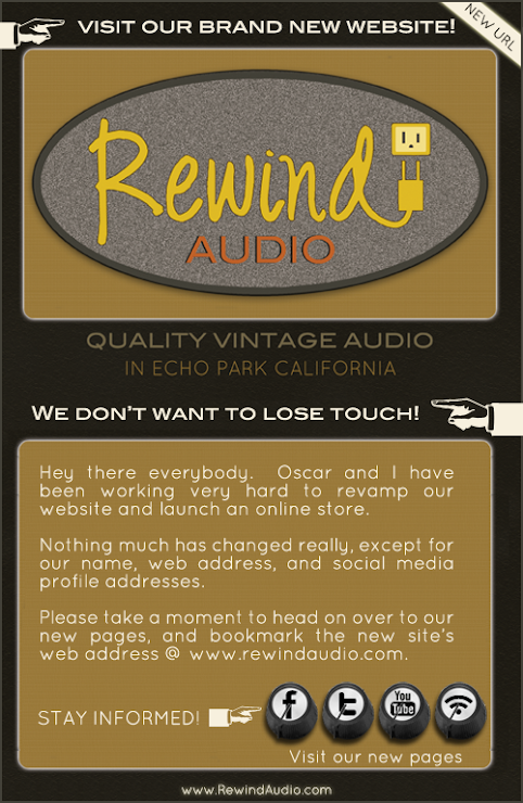 Rewind Audio Has A Brand New Website - No Longer Posting Here!!