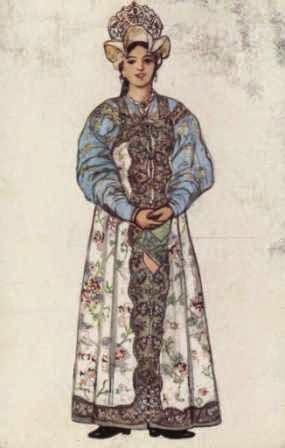 Vestimenta La Mujer Tradicional Regiones Rusa De Traje El qHYtpa