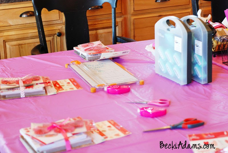 "A scrapbooking themed birthday party created by @jbckadams using the ""We Go Together"" collection from @pebblesinc"