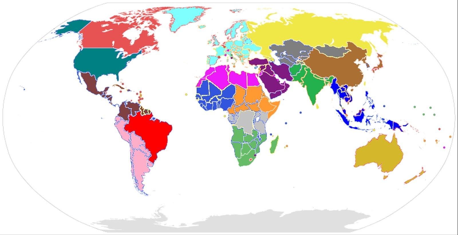 Il Mondo Futuro Intermedio a 21 Catepi e 18 Stati