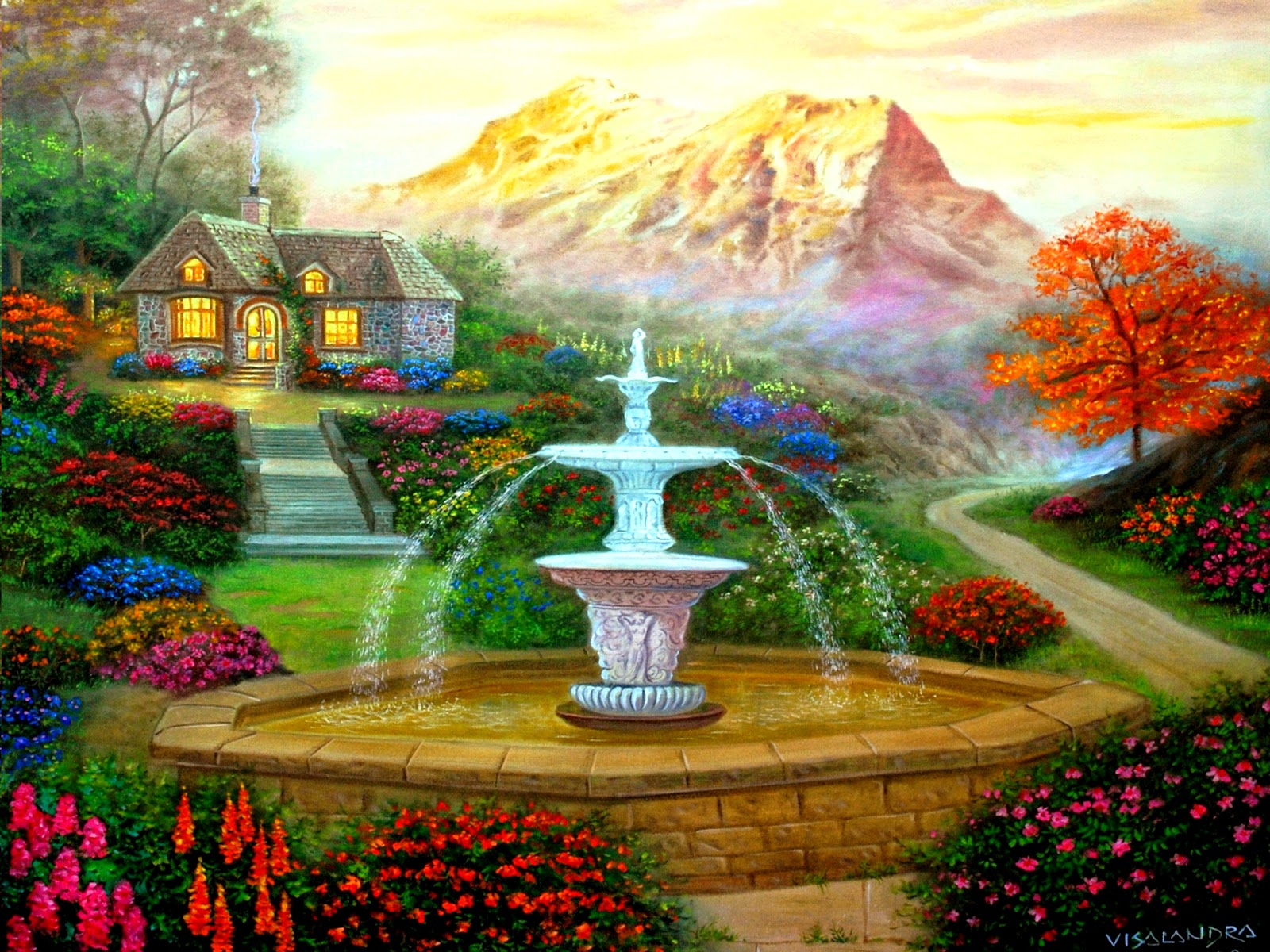 3d garden hd wallpapers for 3d wallpaper of house