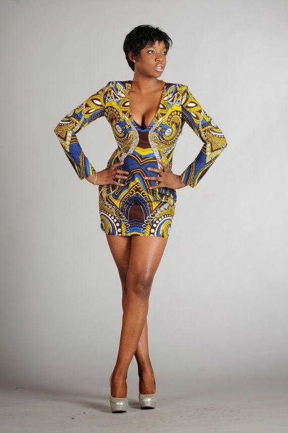 SEXY KITENGE DRESS - The Click Styles