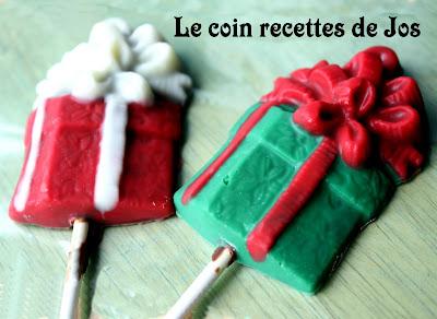 recettes  SUCETTES DE CHOCOLAT