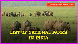 National Parks in India PDF List